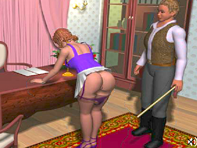 Suave lady experiences desire and submission in her new home