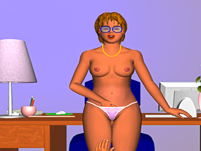 A late night at the office with horny Angela